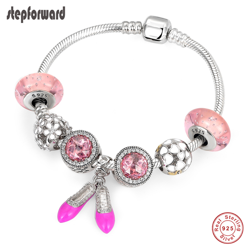 Color: Pink Pink /& Blue Bead Charms Fit Bead Bracelet Original Silver 925 Jewelry Calvas Authentic 100/% 925 Sterling Silver Flipped by Love