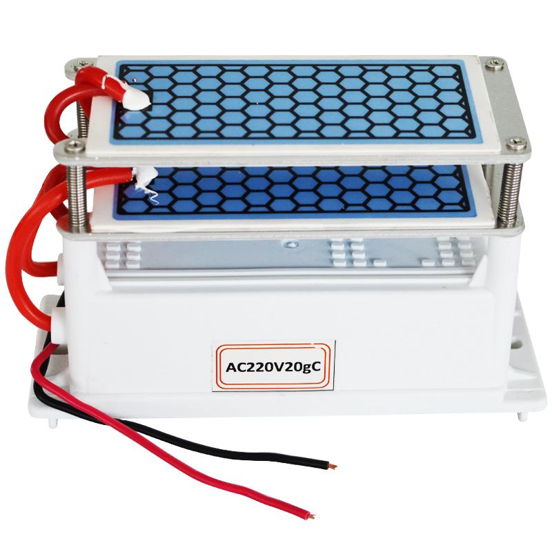 20g//h 220V Cerâmica Gerador de ozônio placa integrada Dupla Ozonizador