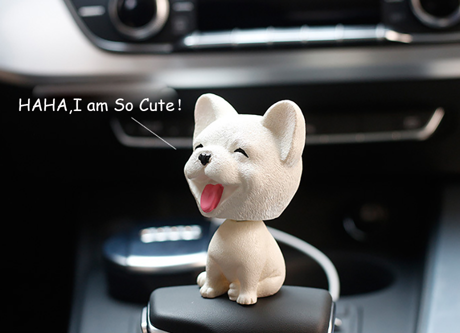 Bobblehead Dog Nodding Puppy Toys Lovely Car Dashboard Decor Toy Shaking Head Dolls Auto interior Accessory Cute Christmas Gifts (9)