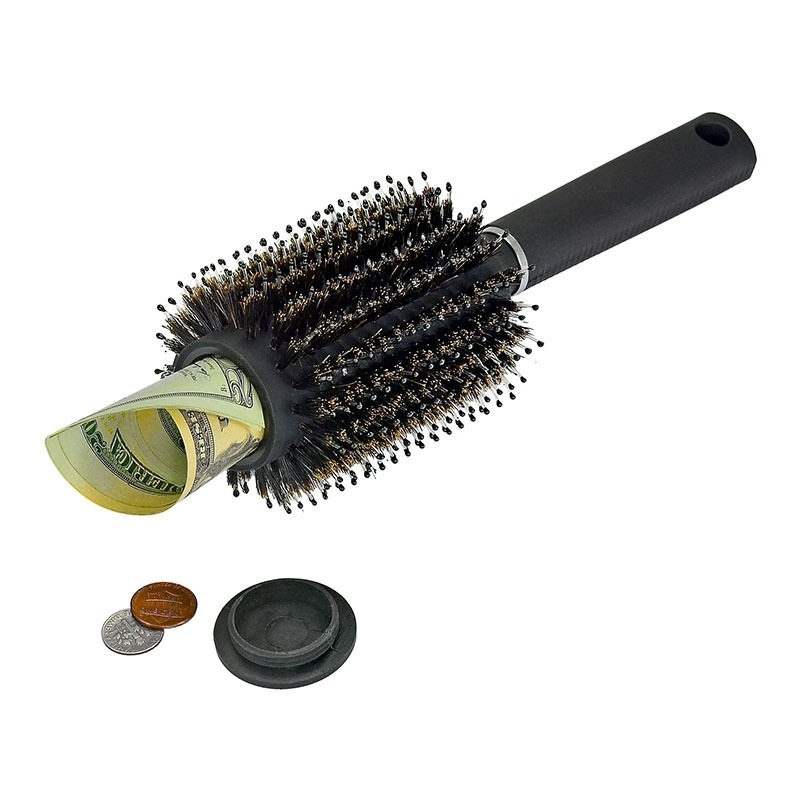 EFE Fe 1 Pcs Real Hair Brush Money Jewelry Diversion Can Safe Stash Secret Container Box