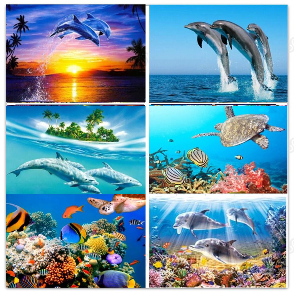 sea turtle diamond painting dolphins