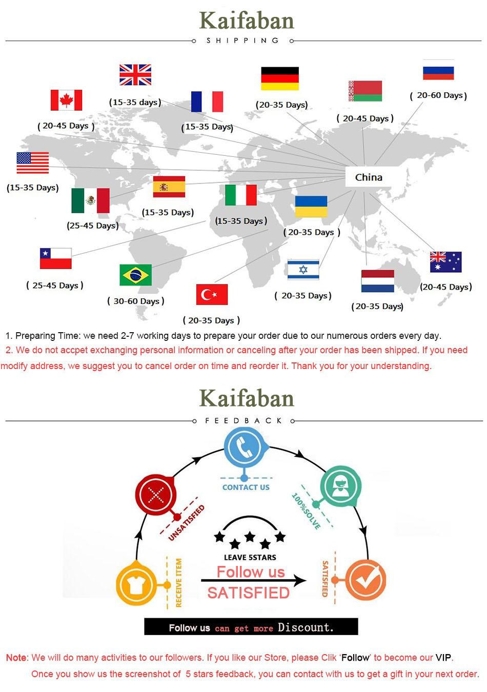 Shipping and Feedback - Kaifaban