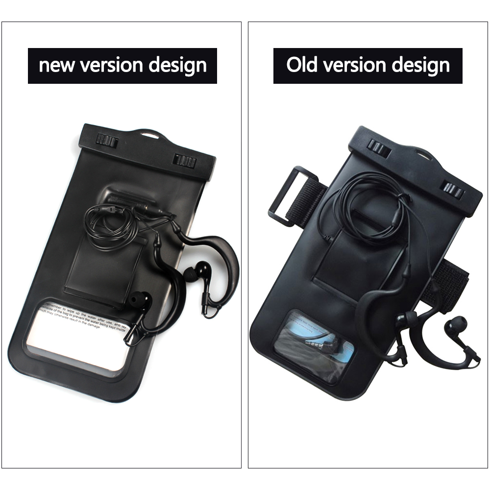 Universal Swimming Case Waterproof phone pouch With Watertight Earphone Drawstring Bags Against Water Jack for Up To 5 Inch5