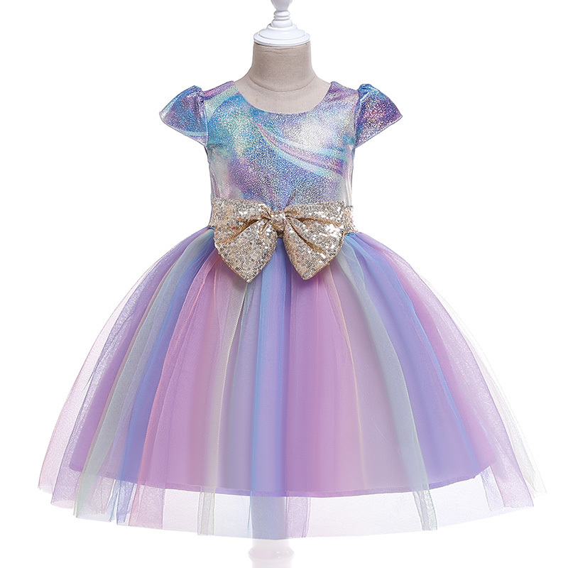 Kids Girls Flower Dresses Baby Embroidery Princess Dress For Formal Evening 2-10 Years Girls Weeding Party Children Clothing J190618