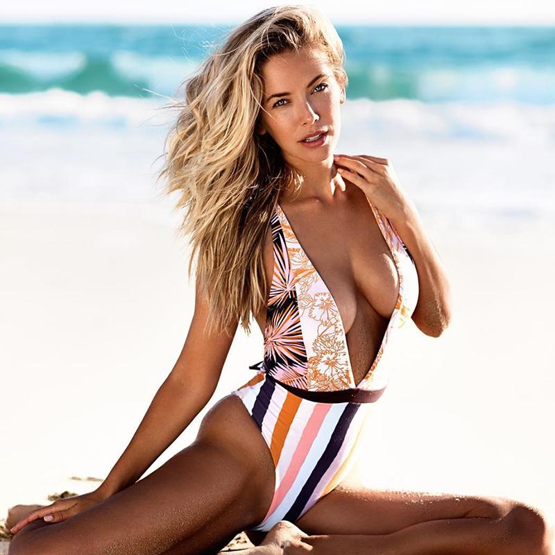 Sexy-Deep-V-One-Piece-Swimsuit-Women-Swimwear-Patchwork-Monokini-Floral-Bath-Suit-Maillot-De-Bain (1)