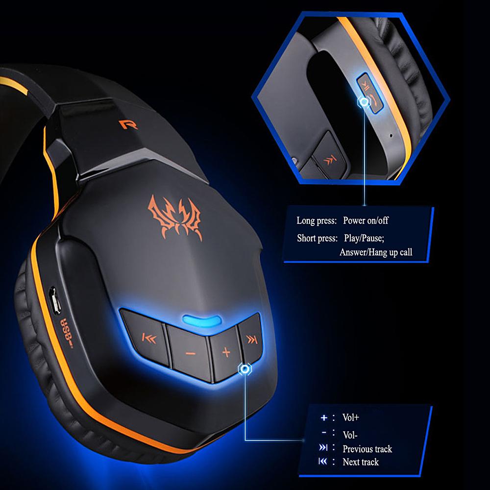 Virwir Kablosuz Bluetooth Oyun Kulaklıklar Kulaklık Mic Düğmesi Kontrolü Ile 3.5mm Ses Kask Gaming Headset Gamer J190506