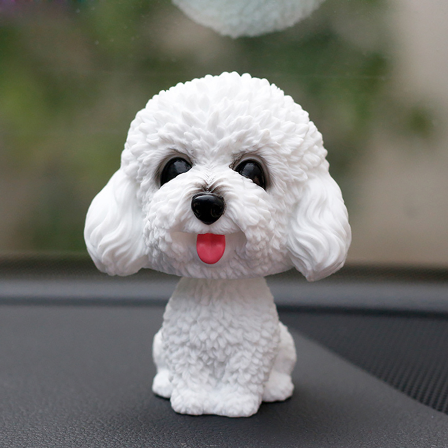 Bobblehead Dog Nodding Puppy Toys Lovely Car Dashboard Decor Toy Shaking Head Dolls Auto interior Accessory Cute Christmas Gifts (4)