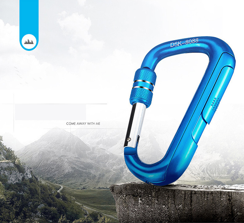 Creative Carabiner Usb Cigarette Lighter Windproof Personality Fire Electric Hot Wire Gift Package