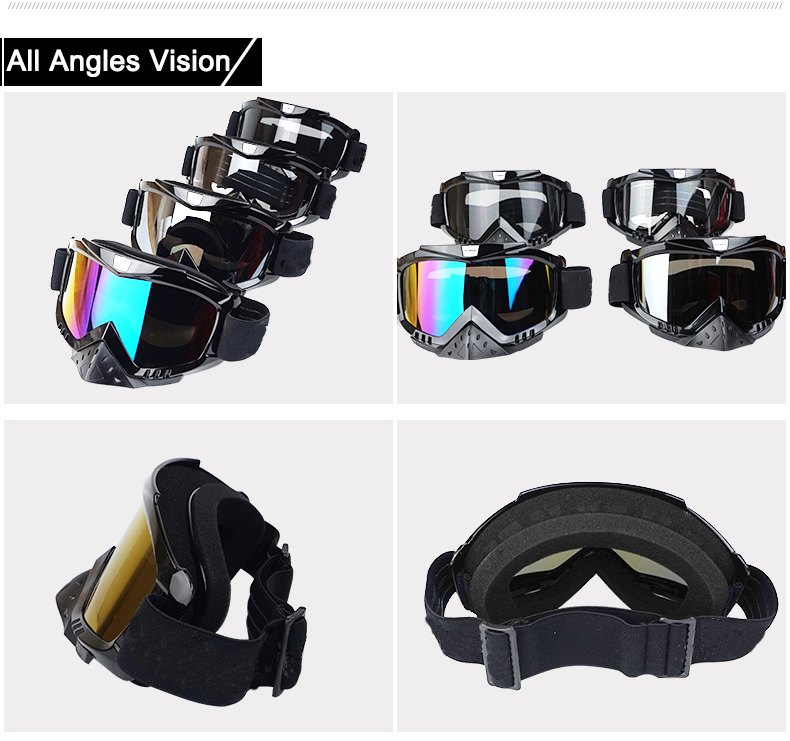New Vcoros brand Gafas motorcycle goggles helmet glasses moto helmets glasses masque motocross goggles ski windproof eyewears (2)