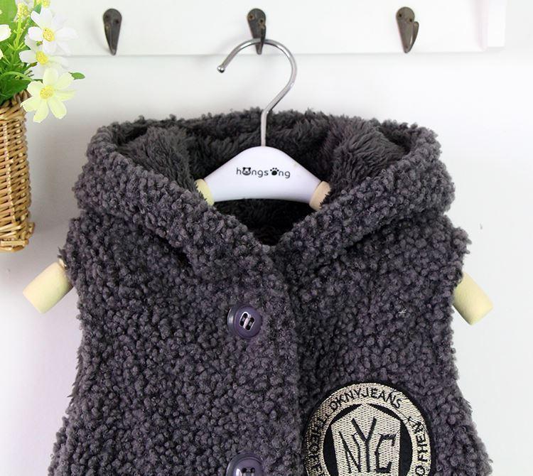 Gute qualität 2018 Neue Ldren Weste Mode Mädchen Dicke Warme Kleidung Wolle Wärmer Strickjacke Kinder Jacke Oberbekleidung