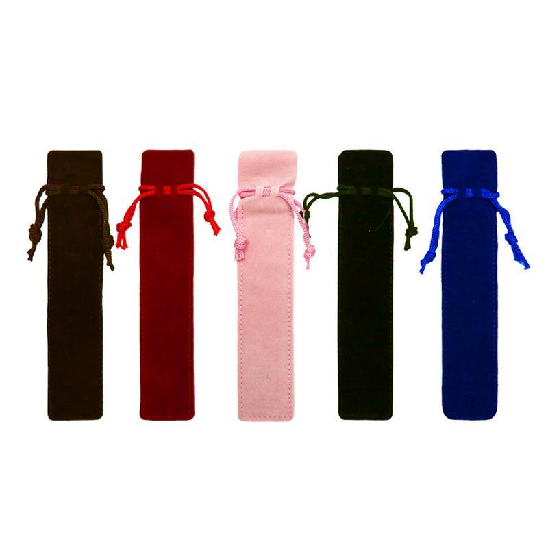 Çok renkli Tek Kalem Çanta Fountain Kalemler Kılıfı El işi Fanila Kalem Çanta Marker Kalem Kılıfı Tutucu Depolama Kol Kozmetik Kılıfı