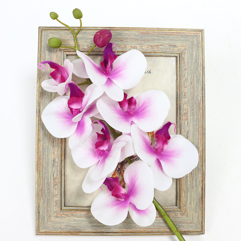 Artificial Orchid Flower 4 color Real Touch Artificial Butterfly Orchid flores artificial Wedding decoration home Festival Decor (23)