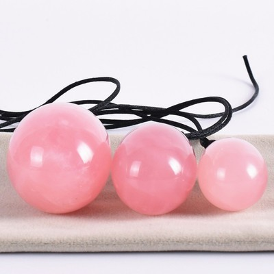 Meselo Women Vaginal Kegle Exercise Ball Natural Stone Yoni Eggs Sex Toy Female Rose Quartz Anal Plug Vagina Balls Y18110203