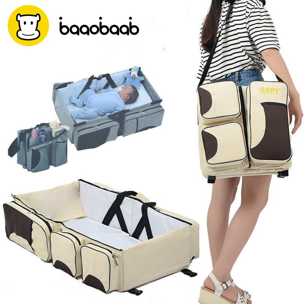 Baaobaab Lxc07 Multi-function Portable Travel Bed Cradle Cot For Changing Diapers Mummy Pack Bag Newborns Baby Crib C19041901