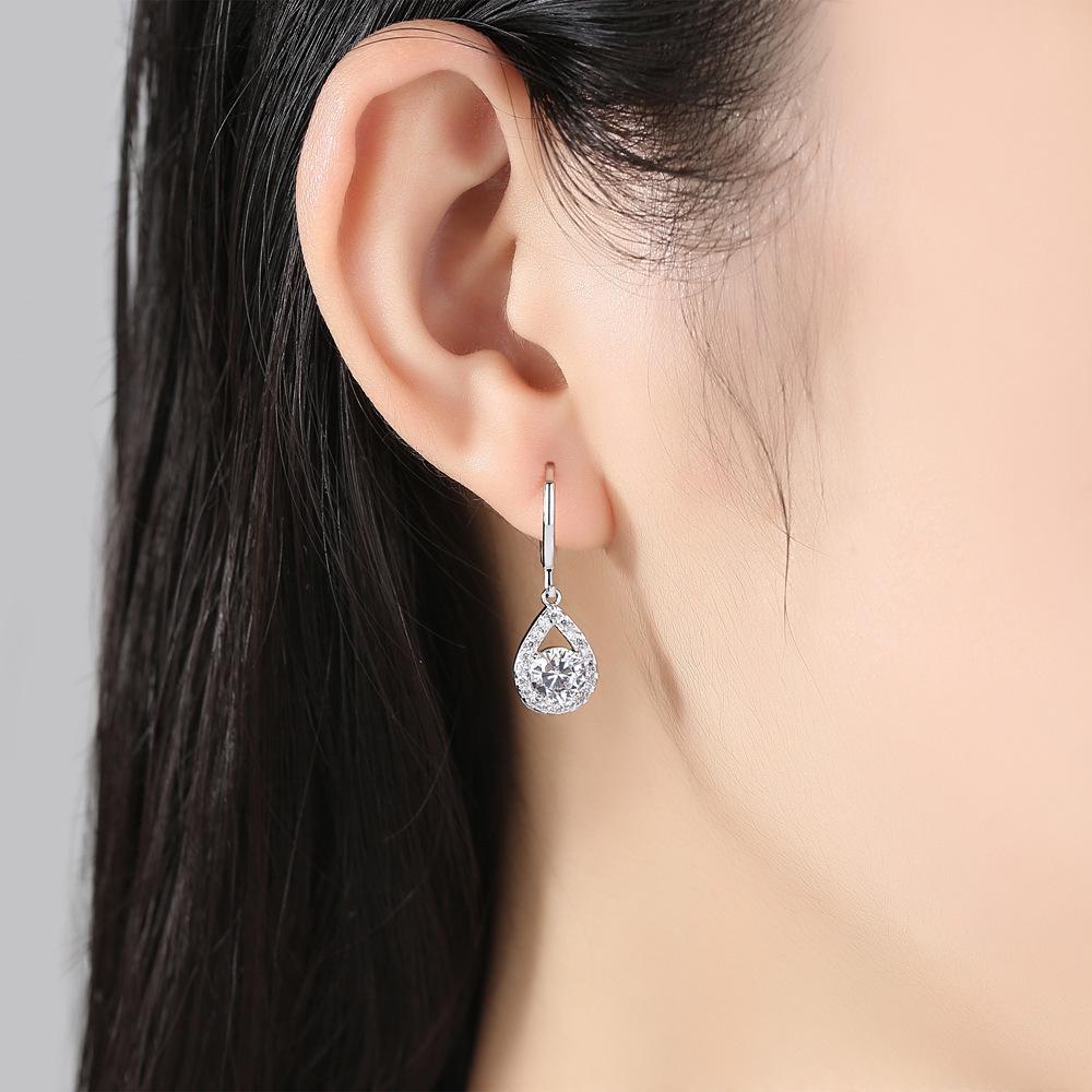 Micro Diamante Drip Clipe de ouvido Concise Brinco mulheres ouro borla grandes aros amo brincos pandora