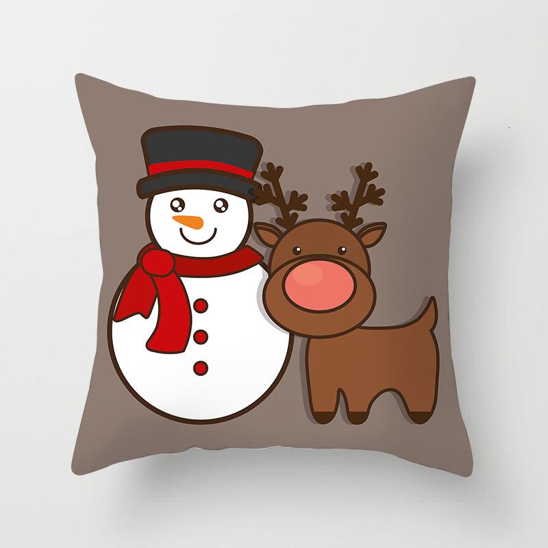 1Pcs 4545 Cm Happy New Year Christmas Decorations for Home Cartoon Santa Claus Xmas Decorative Pillows Cover adornos navidad (4)