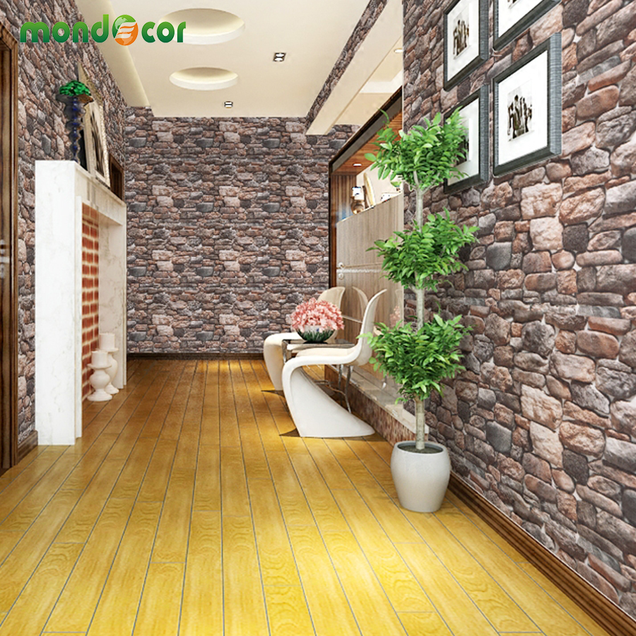 Papier Peint Brique Cuisine 3d brique pierre autoadhésives papier peint cuisine salle de bain pvc  papier peint étanche mur de briques pour mur chambre salon chambre décor