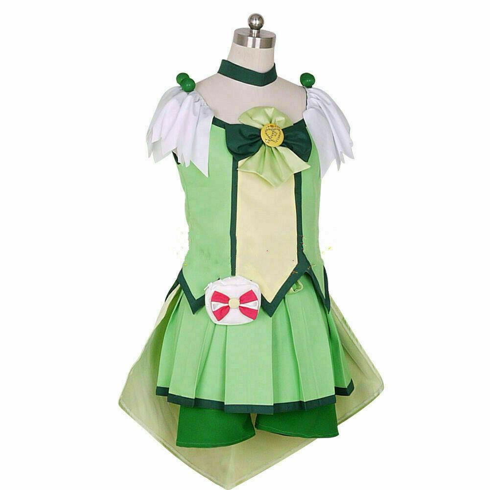 Glitter Force Miyuki Hoshizora Happy Dress Cosplay Halloween Smile PreCure
