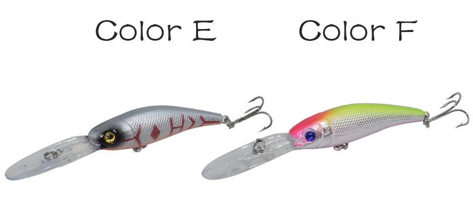 Long Tongue Minnow Fishing Lure 10cm 9.5g Hard Bait Floating Crankbait Pesca Topwater Wobblers Fish Fishing Tackle