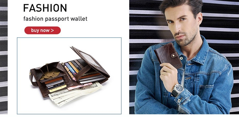 genuine leather wallet passport cover