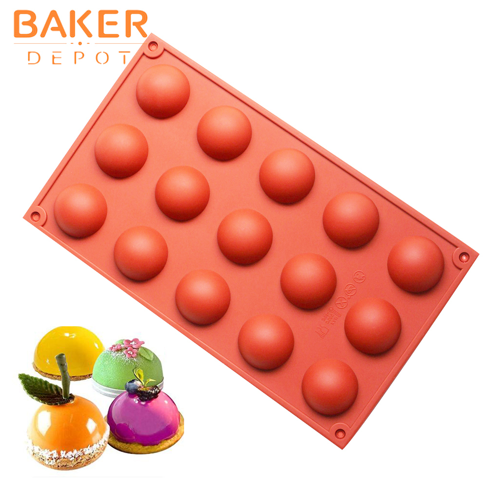 silicone bakeware baking tools for cake domed handmade soap molds Jelly pudding ice mould silicone chocolate candy fondant mold C18122401