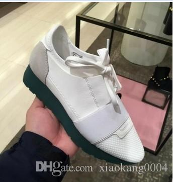 Cheap Sell High Quality Paris Famous Brand Casual Shoes Kanye West Men Women Fashion Low-Top Sneakers Genuine Leather Designer Mens Shoes