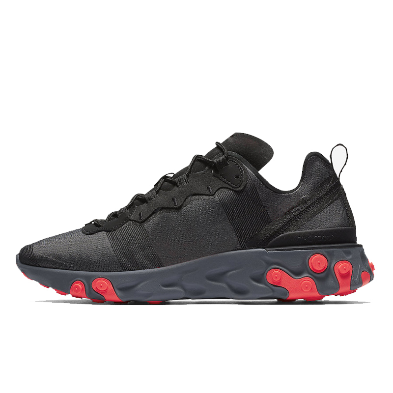 React Element 55 87 Running Shoes SE Taped Seams Royal Tint Hyper Fusion Solar Red Metallic Gold Mens Women Trainer Sports Sneakers 36-45