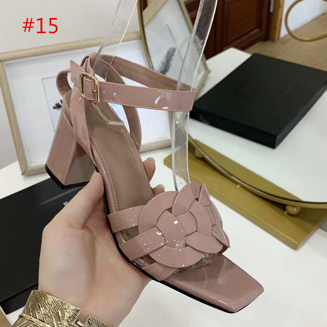 Fashion quality New Arrivals Patent Leather Thrill Heels Women Unique Designer toe Dress Wedding Shoes Sexy shoes Letters heel Sandals Size