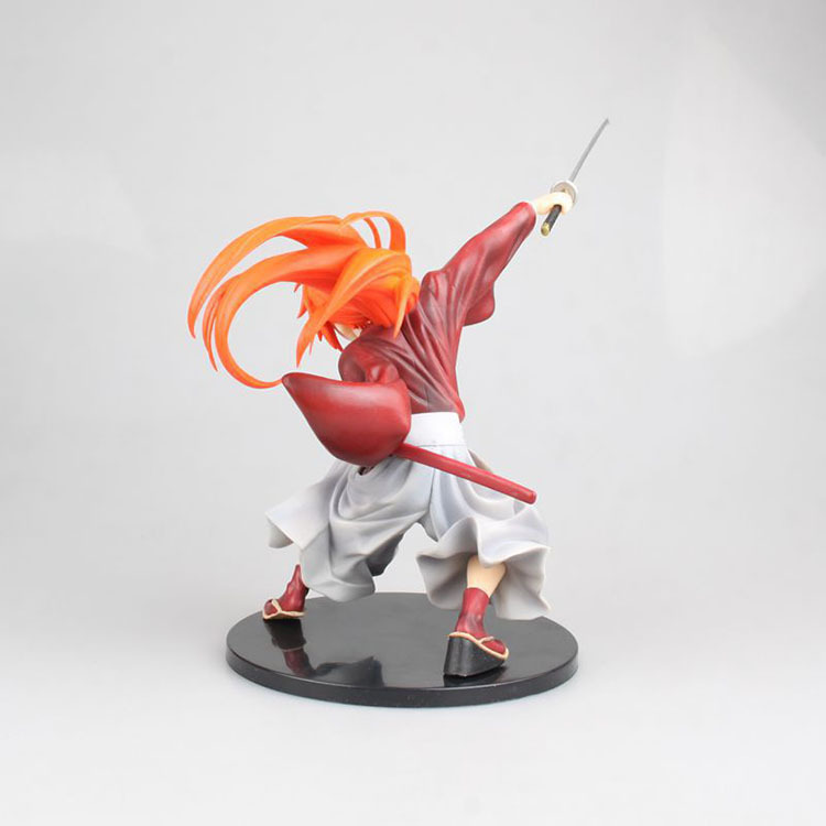18cm Japanese classic anime figure Rurouni Kenshin HIMURA KENSHIN action figure collectible model toys for boys (2)