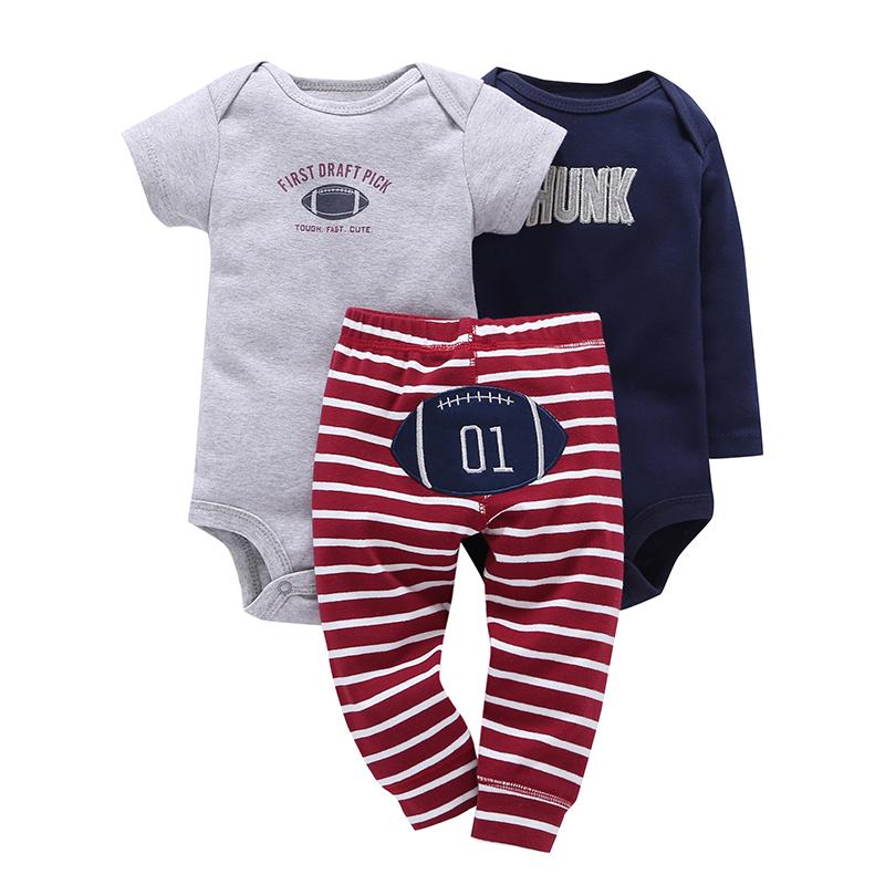baby boy outfit romper+letter bodysuit+pants stripe newborn girl clothes 2019 summer set new born clothing suit gift cotton