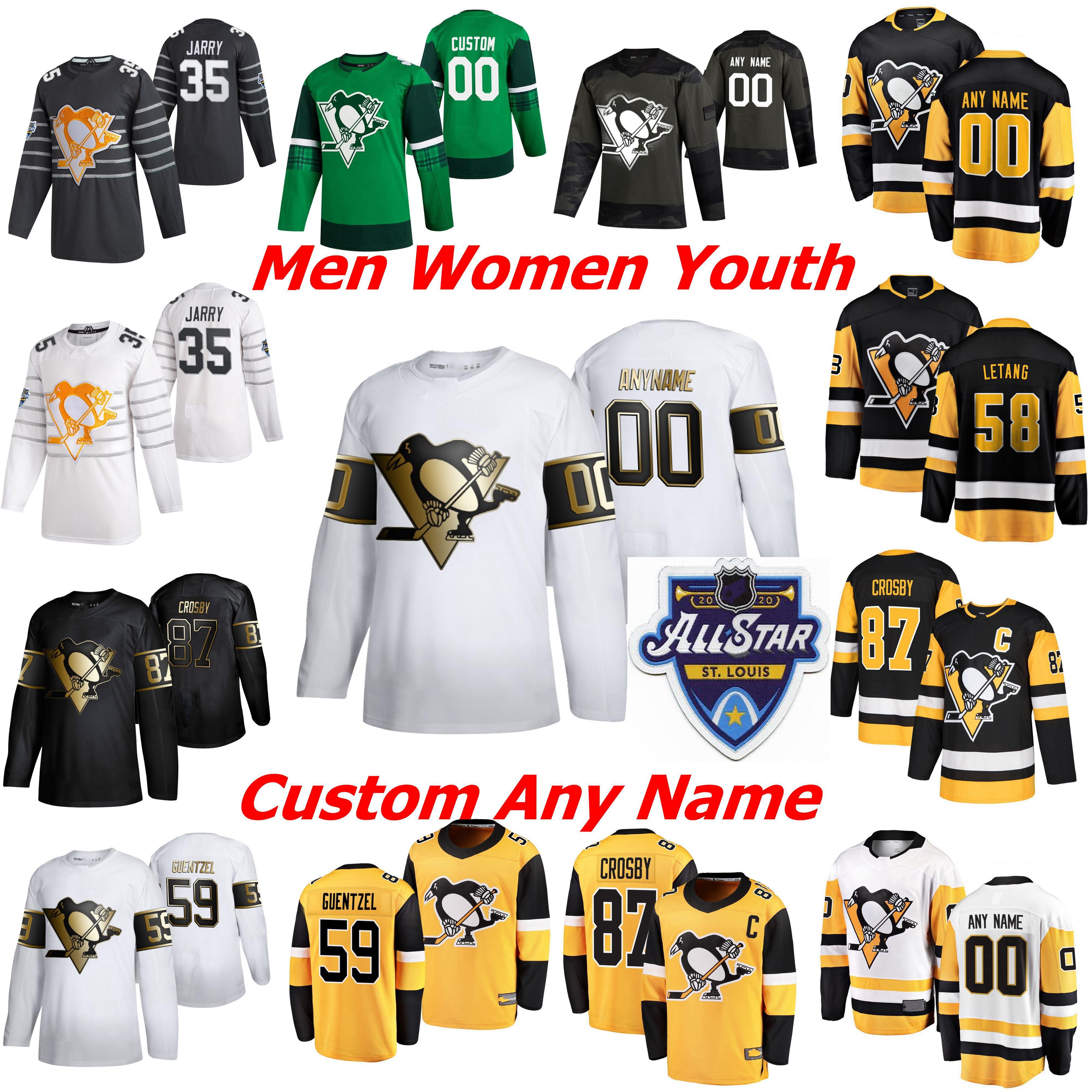 2019 Pittsburgh Penguins Hockey Jerseys Golden Edition Womens 12 Patrick Marleau Jersey 23 Riley Barber 44 Phil Varone Jason ZuckerCustom