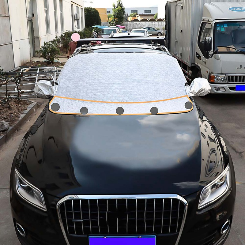 Sun Shade PEVA Car Snow Shield Cover Auto Front Windscreen Rain Frost Car Cover Dust Hook Up Cover Shield