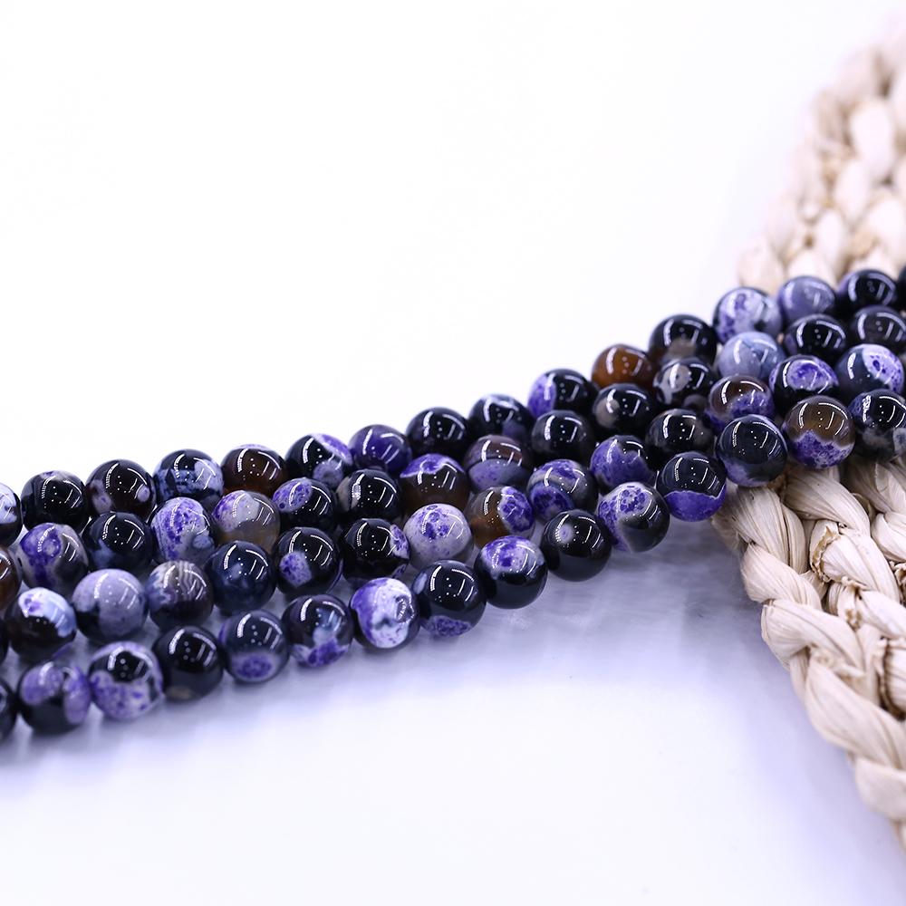 "Wholesale AAA 6mm Purple Agate Gemstones Spacer Loose Stone Beads 15/""  Gift"