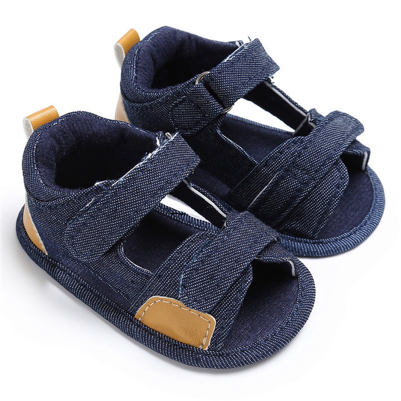 Summer Baby Shoes For Boys Girls Toddler Infant Kids Baby Boys Girls Solid Canvas Sole Crib Shoes Anti-slip Sandals Shoes M8Y11 (11)