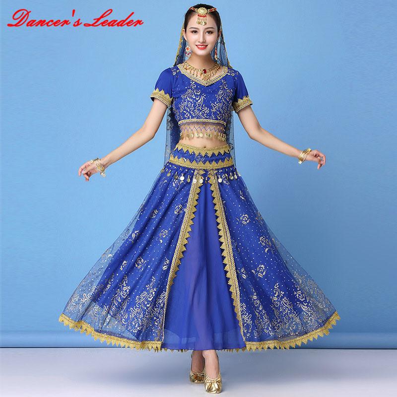 Women Professional India Egypt Belly Dancing Costume Isis Wings Swing Dancewear