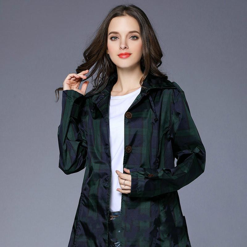 Wasserdicht Frauen Regenmantel Regenbekleidung Jacke Langarm Damen Lose Poncho