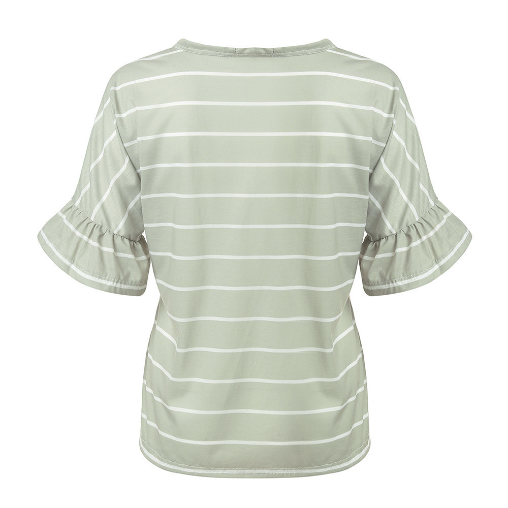 Clothes Pregnancy Womens Clothing Pregnant Women Nursing T-shirt Maternity Striped Bandage Blouse Tops Clothes Pergnancy