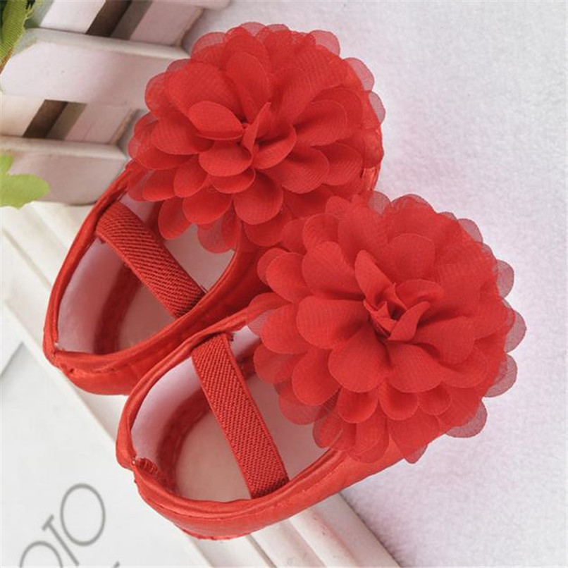 Toddler Kid Baby Girl First Walker Chiffon Flower Elastic Band Newborn Walking Shoes NDA84L16 (7)