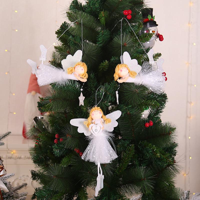 Brinquedo De Natal Anjo Asas De Ouro Natal Ornamento Para Casa De Boneca Ano Novo 2020 Presente