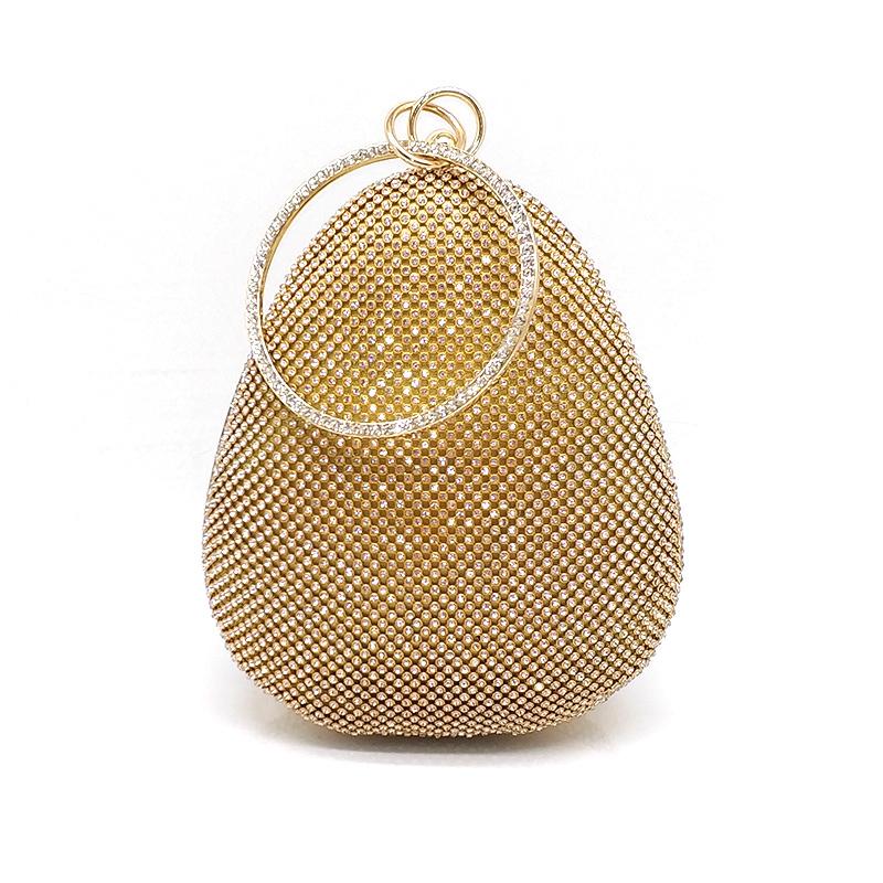 Fashion Diamonds Purses Donna Evening Party Frizioni Egg forma di borse da sposa della borsa della festa nuziale Y190626
