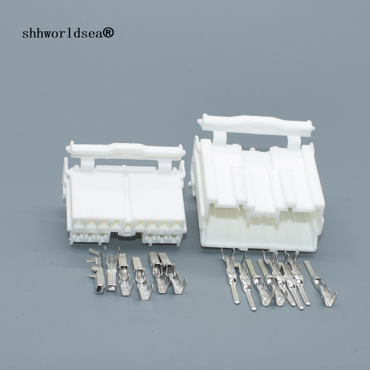 Suministro de 12-Way Conector Mini Coche Moto Kit Eléctrico Enchufe 6.3mm Pin Socket