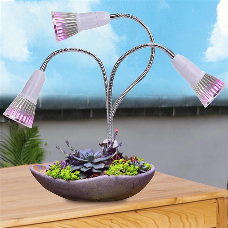 E27 Clip-on Desk Work Lamp Holder Flexible Neck Double Head Led Table Light Plant Grow Lights With Us/eu Plug Q190601