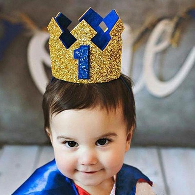 Bébé Garçon Fille Couronne Diadème Chapeau Serre-tête Bandeau Fête Anniversaire Smash Photo Props