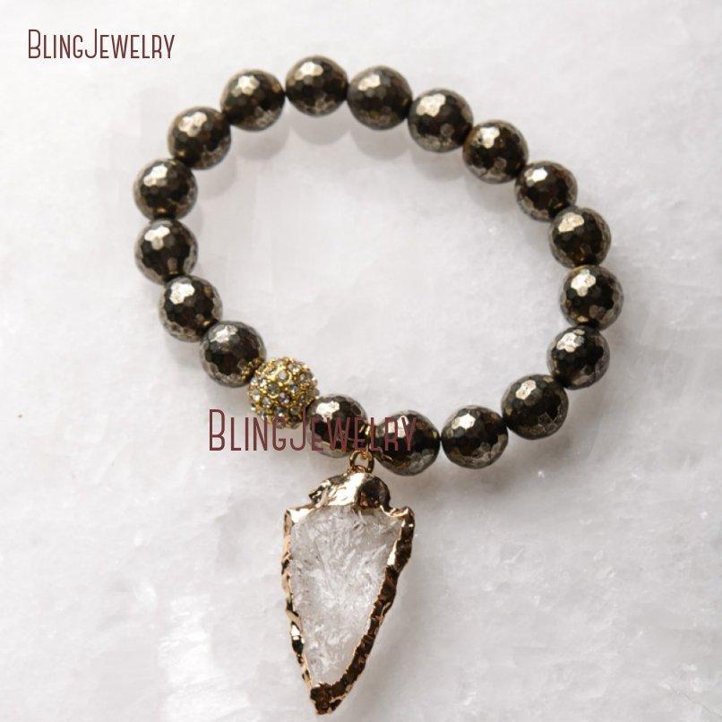 20181201-BM17426-Latest Arrowhead Clear Crystal Bracelet On Sale_18