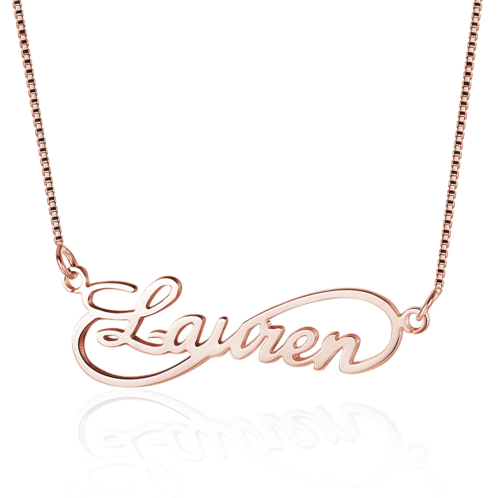 Infinity Love Women Name Necklaces 8 Shape Personalized 925 Sterling Silver Arabic Russian Name Necklace Lovers Gift ne101629 J190707