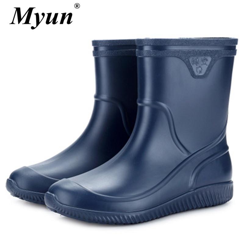 Herren Stiefel Wasserschuhe Männer rutschfest Gummistiefel Angeln Schuhe Neu