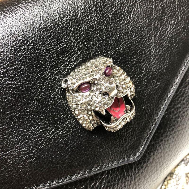 Designer Bags Luxury Bag Luxury Wallet New Snake Skin Tiger Head Bag With One Shoulder Slant Cross Fashion Hand Bag