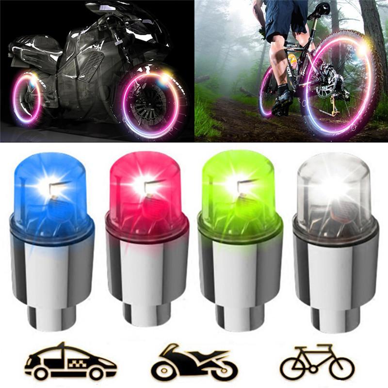 LED Válvula Gorro Coche Camión Bicicleta Casquillo de Neon Auto Llanta Rueda