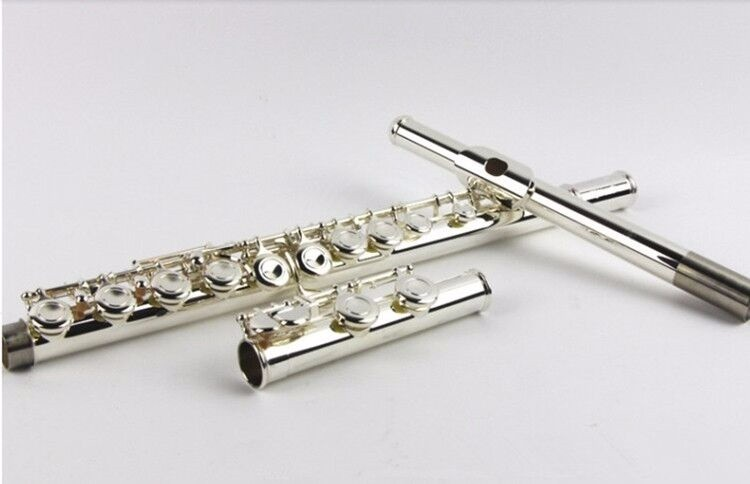 FL-471 Cupronickel 16 Hole Closed Flute High Quality Silver Plated Flute Playing C Tune Musical Instrument Flute With Case
