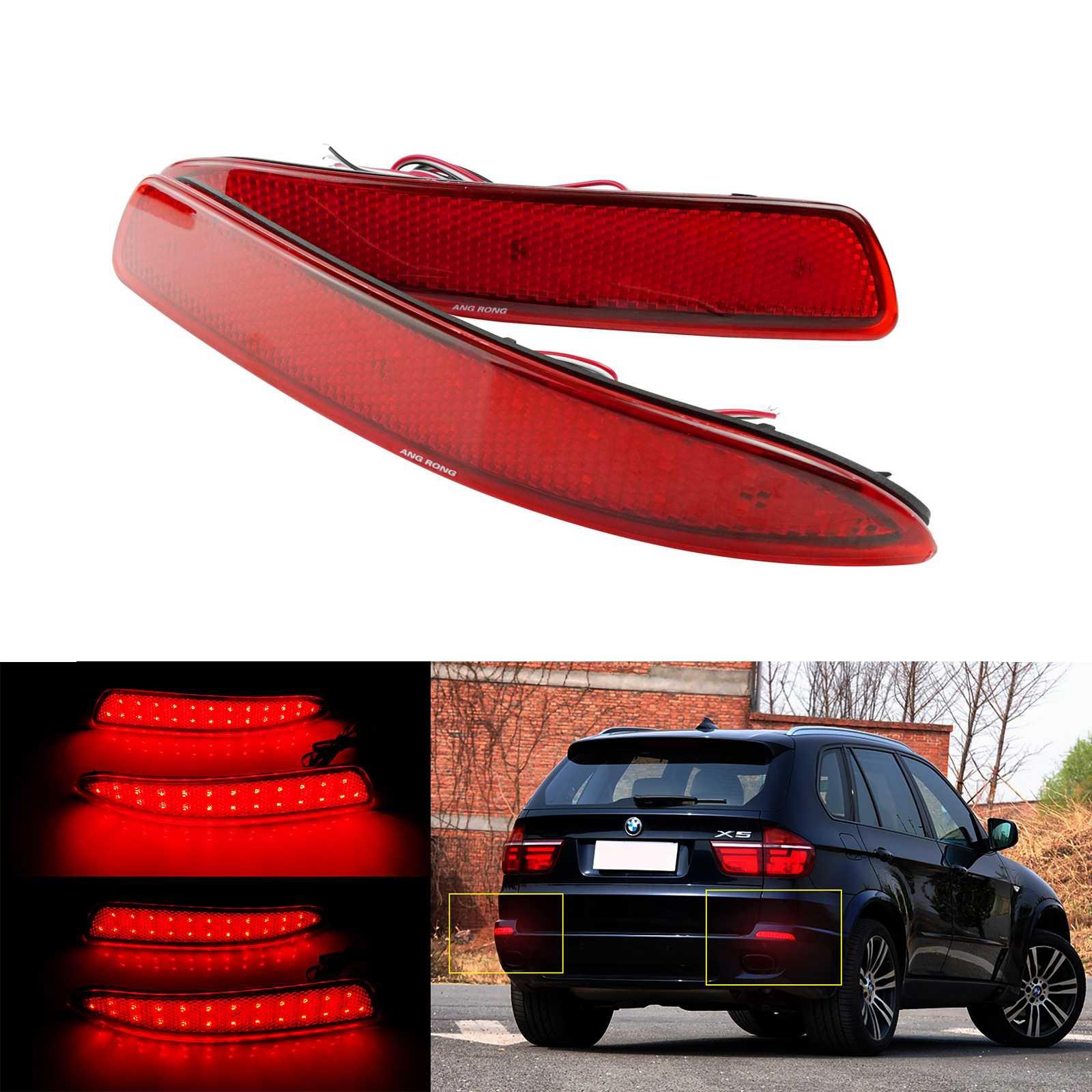 Universal 2x Red Car Auto Rear Bumper Reflective Marker Warning sticker Decal
